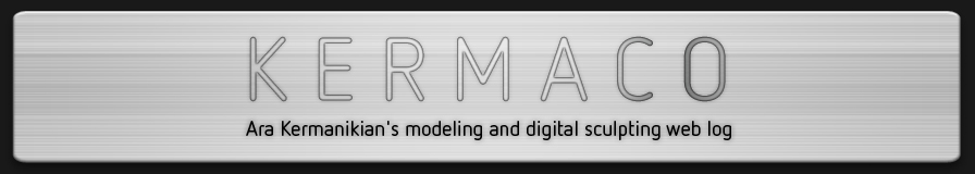 Ara Kermanikian's modeling and digital sculpting web log