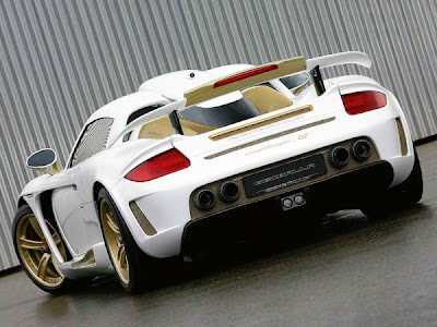 2010 Porsche Carrera GT Gemballa Mirage GT Gold Edition back view