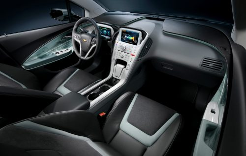 2011 Chevy Volt Spark pure electric car INTRERIOR VIEW