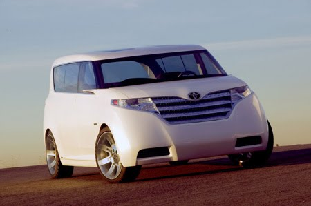 Toyota; showed a new minivan for Europe