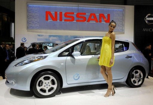 2011 Nissan shows electric car worldwide