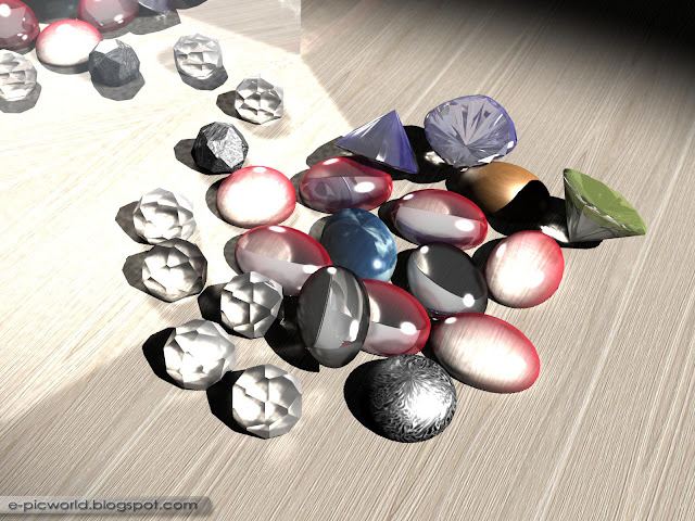 3d gemstones - cgi wallpaper