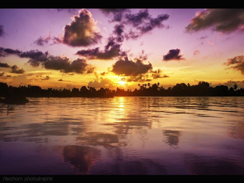 Sunset at kampung Pulau Rusa picture