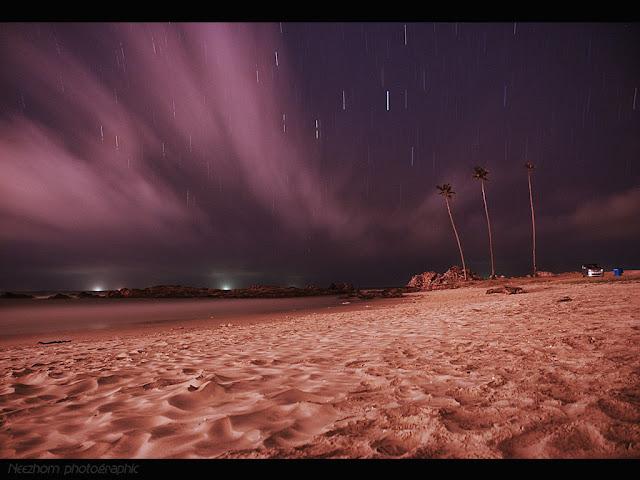 Star trails at pantai Pandak picture