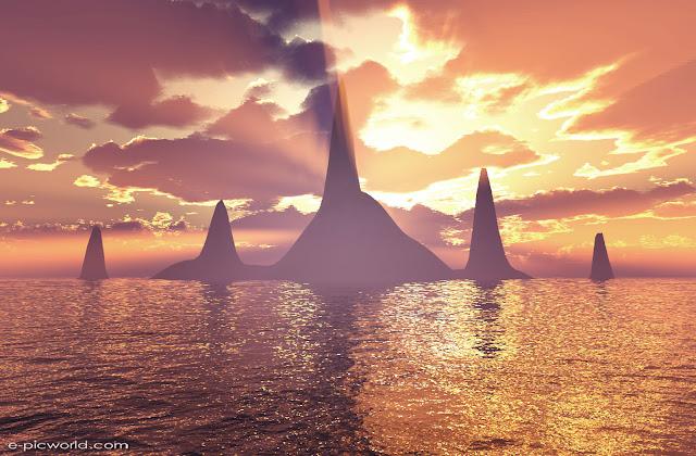 3d islands wallpaper