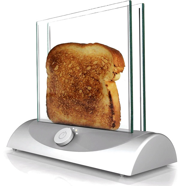 Transparent Glass Toaster