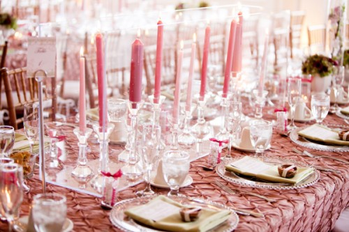 tablescapes such as these candle and lantern decorated wedding tables