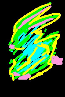 iphone art - neon bunny