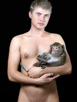 man and monkey