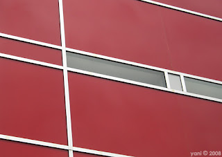 red building lines