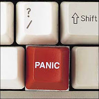 'we mustn't panic, we must remain calm.... arrrggghhhhhhhhh'... extra points if you can name the movie