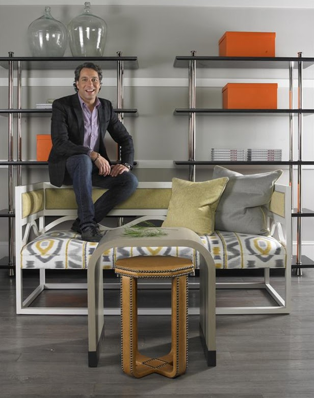 photographed with pieces from his collection for Vanguard Furniture ...
