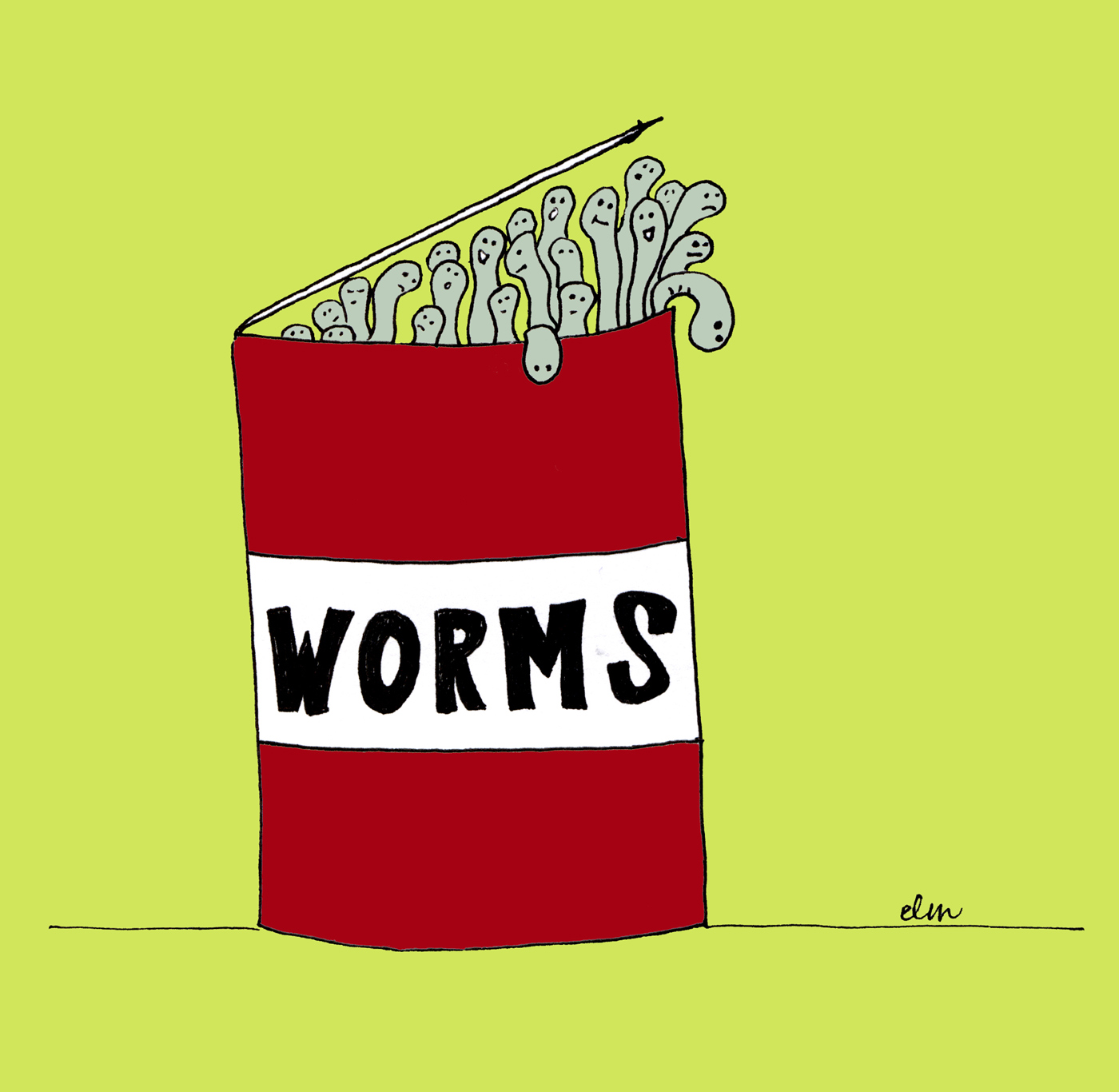 Someone gave me a can of worms for christmas for Fishing worms near me