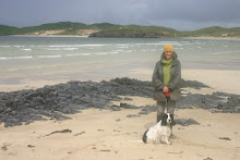 Joanne and Chip on Balnakeil beach