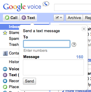 how to send a text from google voice