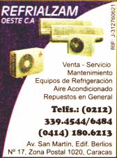 REFRIALZAM OESTE, C.A. en Paginas Amarillas tu guia Comercial