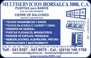MULTISERVICIOS HORSALCA 3000, C.A en Paginas Amarillas tu guia Comercial