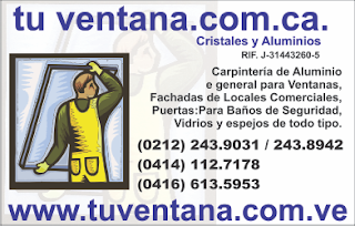 TU VENTANA.COM.CA en Paginas Amarillas tu guia Comercial