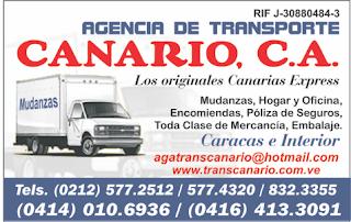 AGENCIA DE TRANSPORTE EL CANARIOS, C.A. en Paginas Amarillas tu guia Comercial