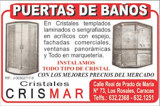 CRISTALES CRISMAR, C.A. en Paginas Amarillas tu guia Comercial