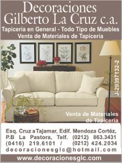 DECORACIONES GILBERTO LA CRUZ, C.A. en Paginas Amarillas tu guia Comercial