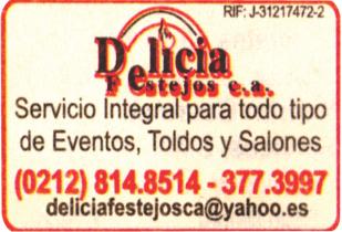 DELICIA FESTEJOS, C.A. en Paginas Amarillas tu guia Comercial