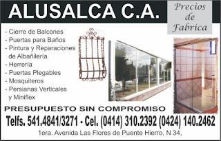 ALUSALCA, C.A. en Paginas Amarillas tu guia Comercial