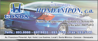 AUTOPARTES HONDANIPON, C.A. en Paginas Amarillas tu guia Comercial