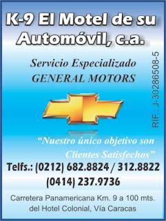 K-9 EL MOTEL DE SU AUTOMOVIL, C.A. en Paginas Amarillas tu guia Comercial