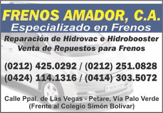 FRENOS AMADOR en Paginas Amarillas tu guia Comercial