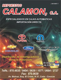 REPUESTOS CALAMON, C.A. en Paginas Amarillas tu guia Comercial