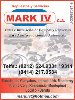 REPUESTOS Y SERVICIOS MARK IV, C.A. en Paginas Amarillas tu guia Comercial