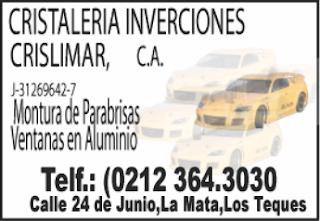 CRISTALERIA INVERSIONES CRISLIMAR, C.A. en Paginas Amarillas tu guia Comercial