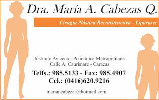 DRA. MARIA A. CABEZAS Q. en Paginas Amarillas tu guia Comercial