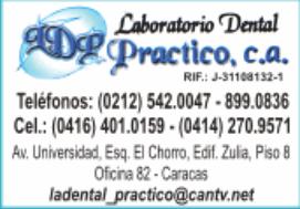 LABORATORIO DENTAL PRACTICO, C.A. en Paginas Amarillas tu guia Comercial