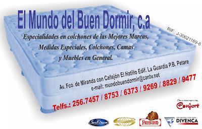 EL MUNDO DEL BUEN DORMIR, C.A. en Paginas Amarillas tu guia Comercial