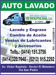 AUTO  LAVADO  Y SERVICIOS LOS EUCALIPTUS 2006, C.A. en Paginas Amarillas tu guia Comercial