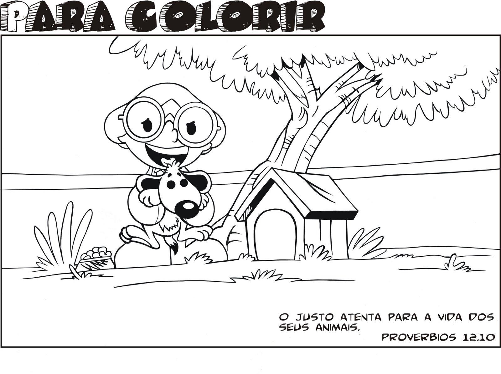Desenho Para Colorir Da Turma Diante Do Trono