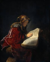 The Prophetess Anna   -  A painting by Rembrandt