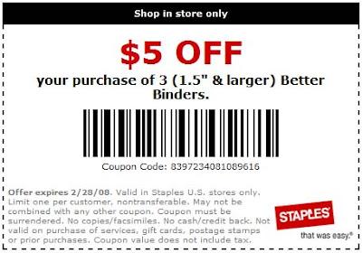 Staples-$5off