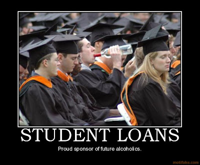 Student Loans Demotivational Poster