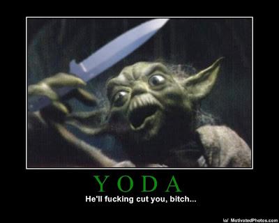 Yoda Demotivational Poster