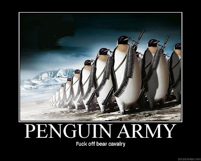 Penguin Army Demotivational Poster