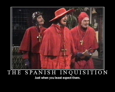 The Spanish Inquisition Demotivational Poster