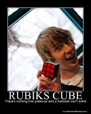 Do cube with hammer