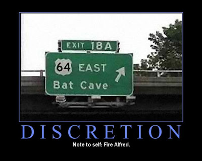 Discretion Demotivational Poster