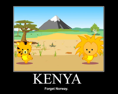 Kenya Demotivational Poster