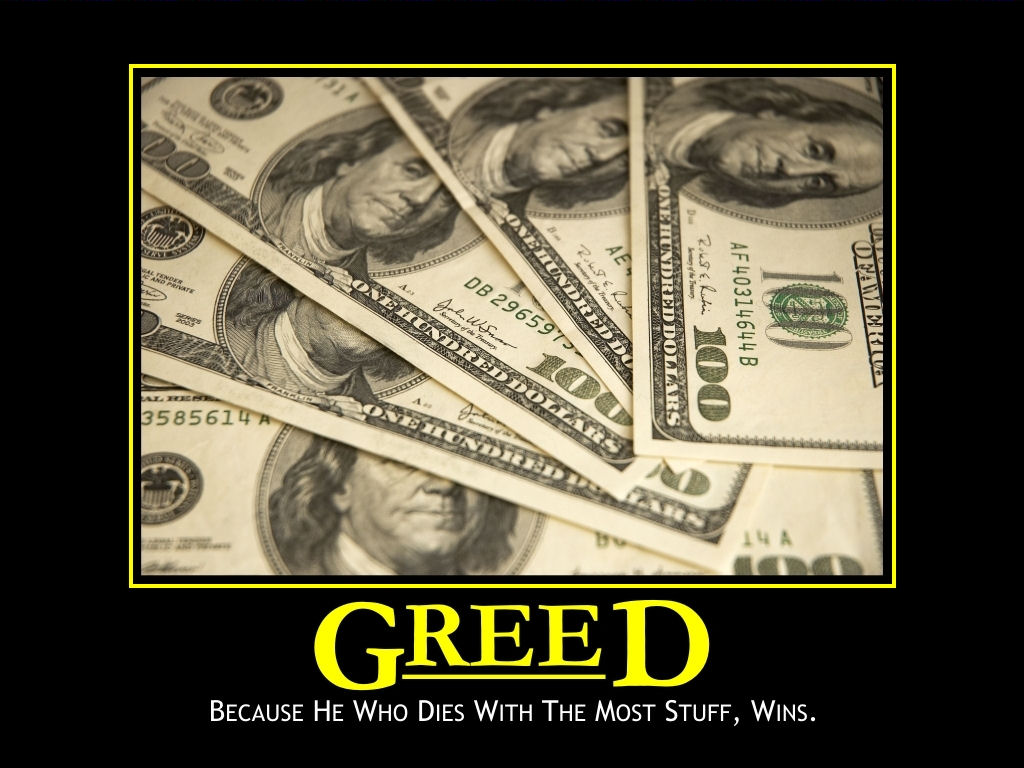 Greed is good in forex