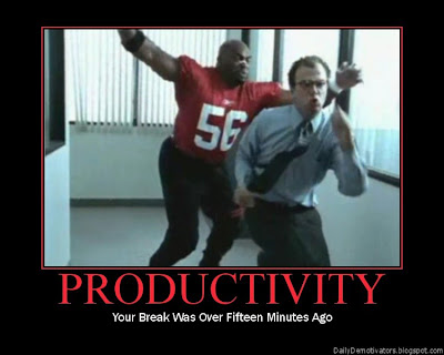 Productivity Demotivational Poster