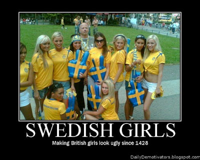 Swedish Girls Demotivational Poster